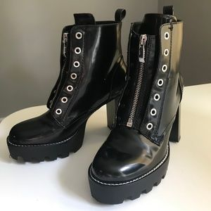 Zara Track Sole Ankle Boots, 6.5
